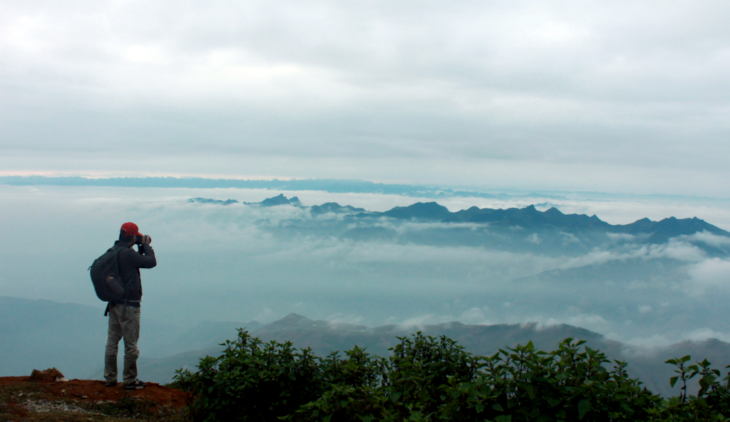View of clouds from Ta Xua Mountains - Ta Xua Vietnam