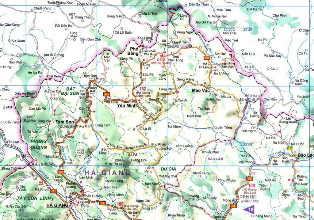 Ha Giang Vietnam Map