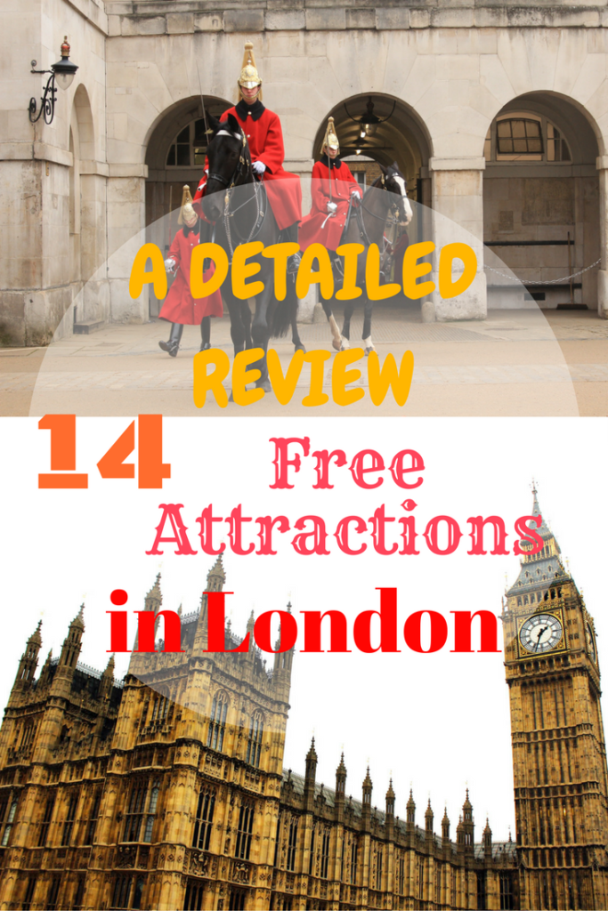 14 Free Attractions in London with detailed reviews