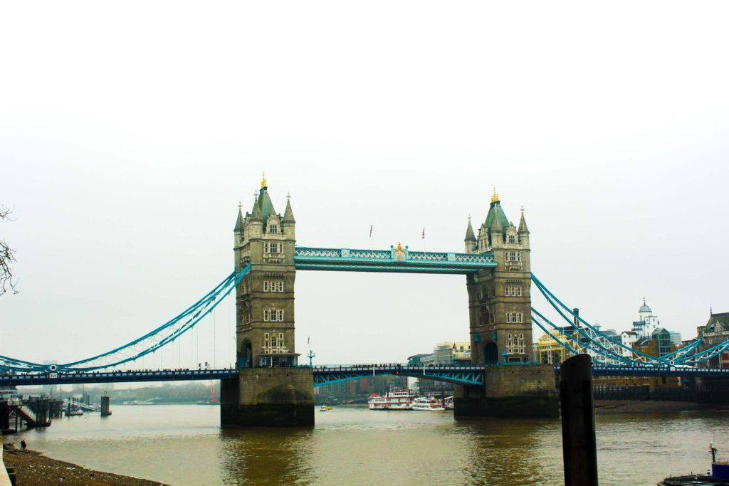 Tower Bridge as seen from the Tower of London