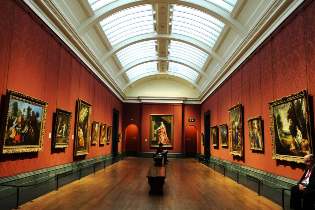 An exhibition room at the National Gallery London - London Budget Trip - 14 free attractions London detailed reviews