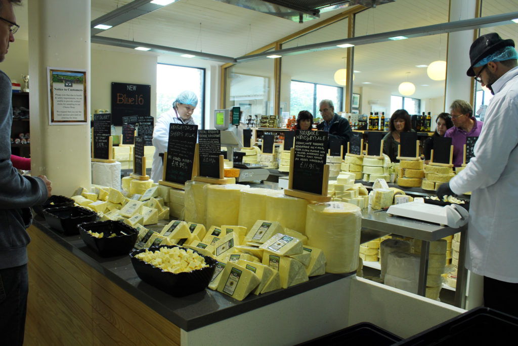 The Cheese Tasting Room | Wensleydale Creamery Visitor Center | Yorkshire Dales Tour