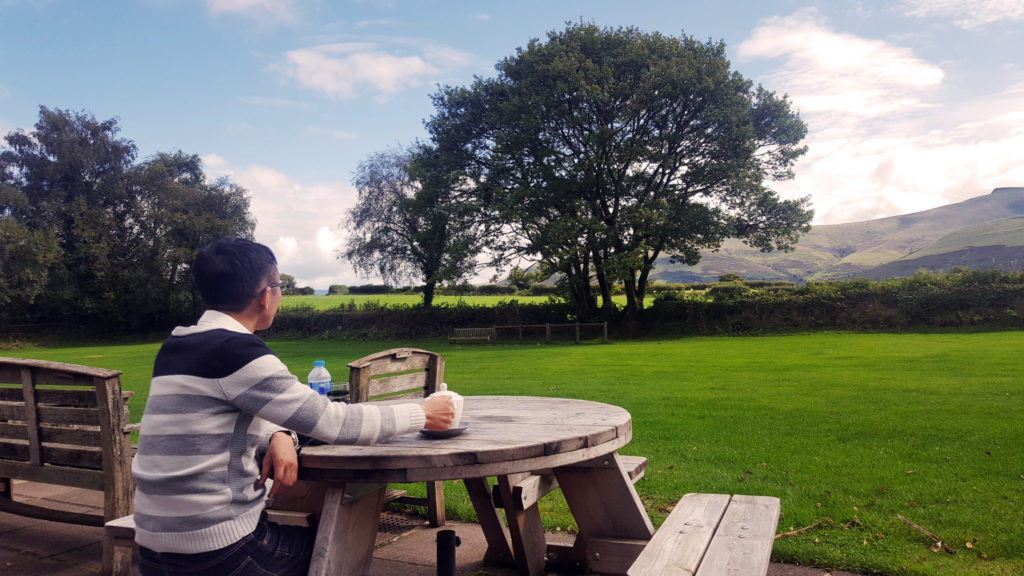 Amazing view while having lunch | Brecon Beacons National Park Visitor Centre
