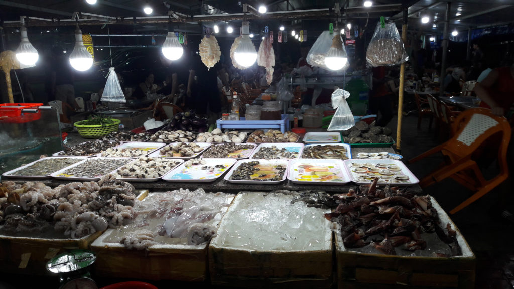 Fresh seafood at Vung Tau Night Market