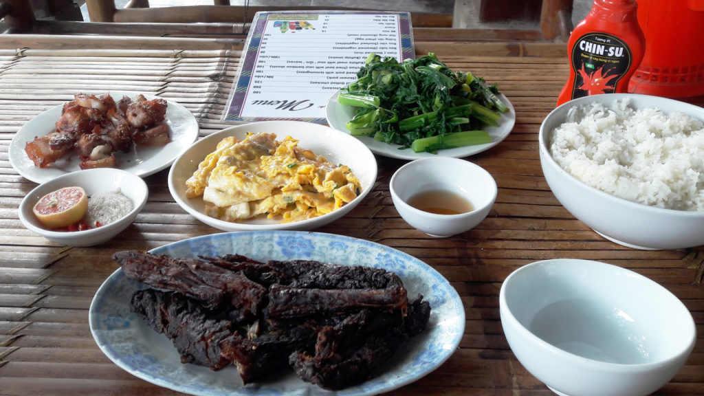 Our lunch in Mai Chau | What to eat in Mai Chau