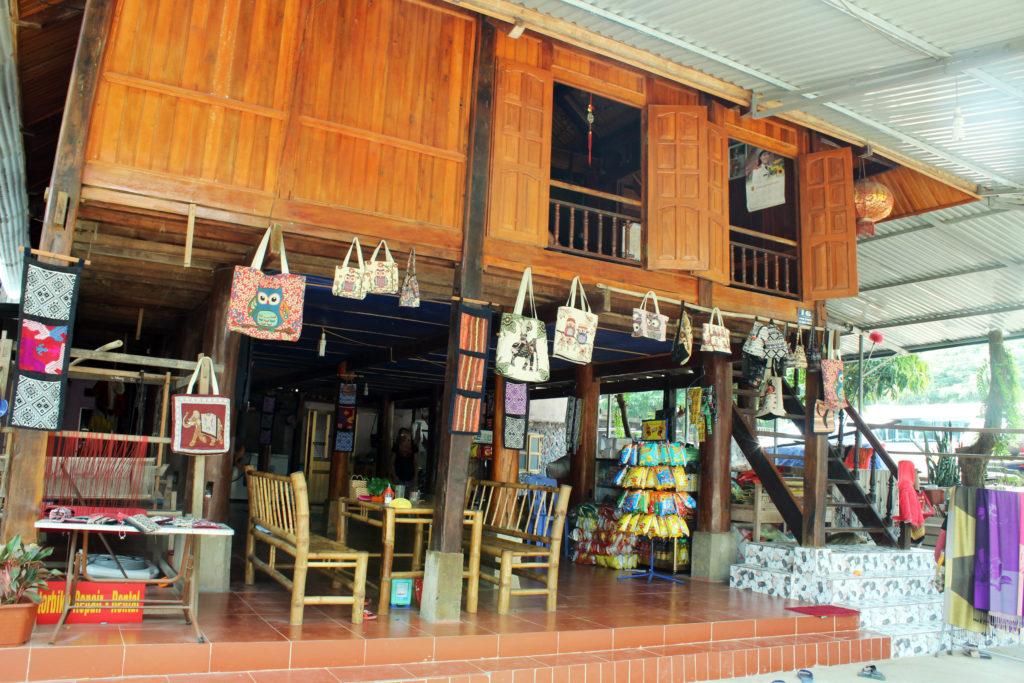 Local shops selling handicraft in Mai Chau
