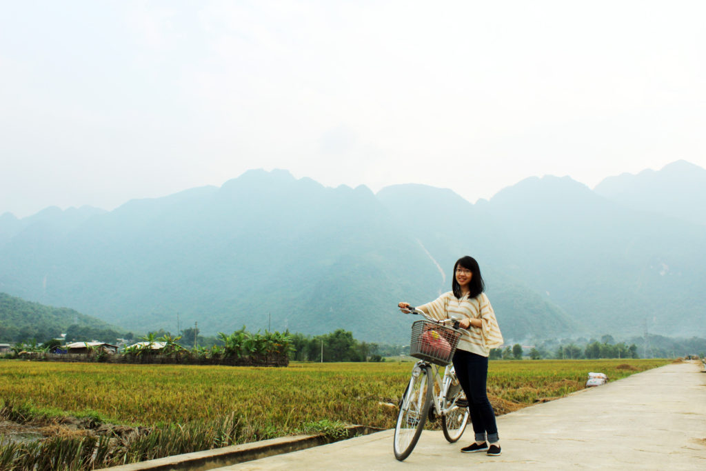 Hiring a bicycle for as cheap as 20000VND / hour in Mai Chau