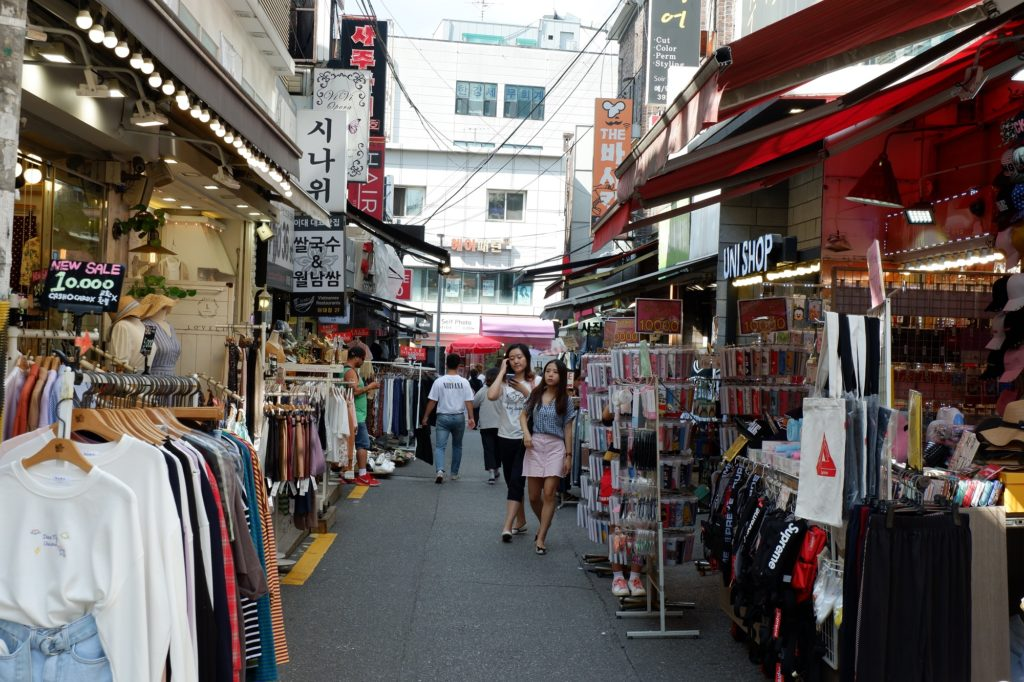 Shopping streets around Ewha Womans University Seoul