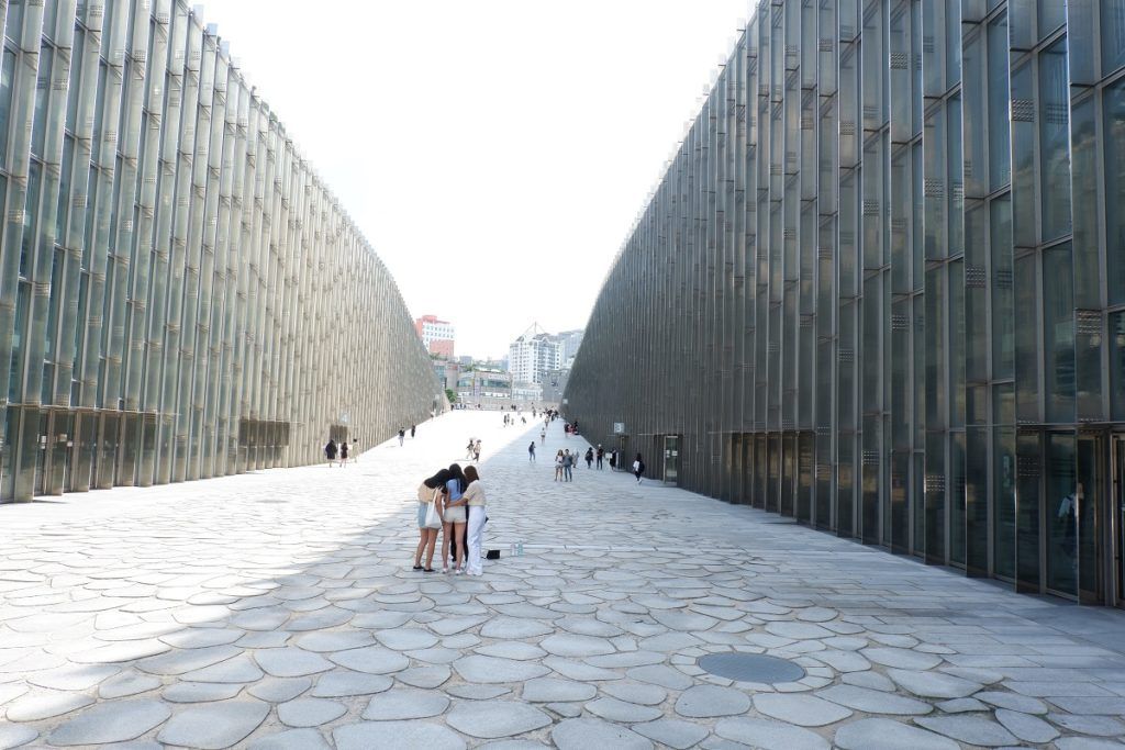 The architecture of Ewha Womans University Seoul