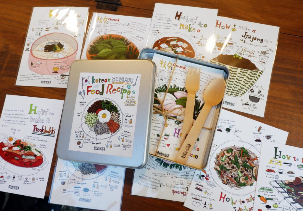 Cute postcards for those who fall in love with Korean food