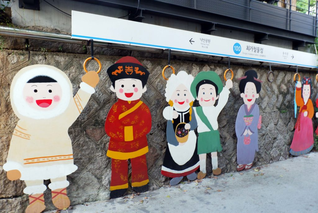 Cute figures on the streets of Ihwa Mural Village