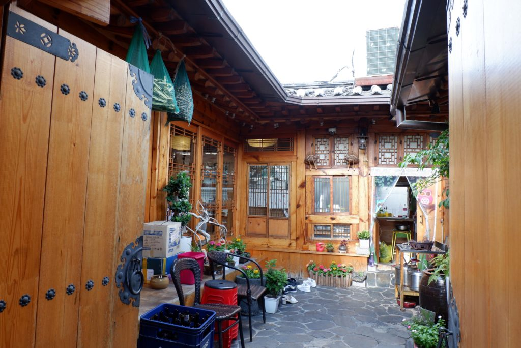 Traditional houses at Insadong have now become cute little tea houses