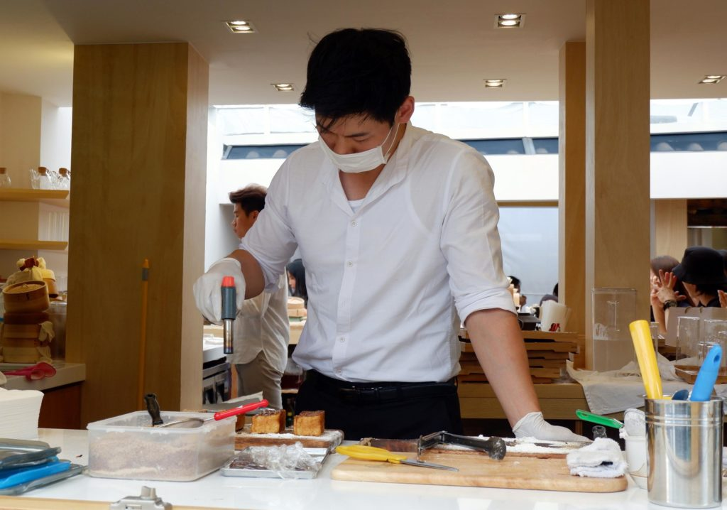 You might also catch the sight of an oppa preparing dessert by the window