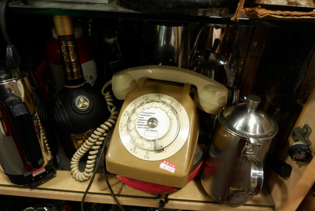 An old telephone at Antiques at Seoul Folk Flea Market