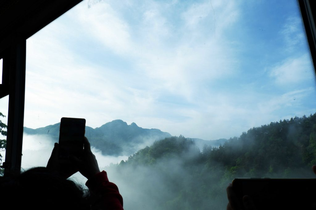 View from the buses running around Wudang Mountains