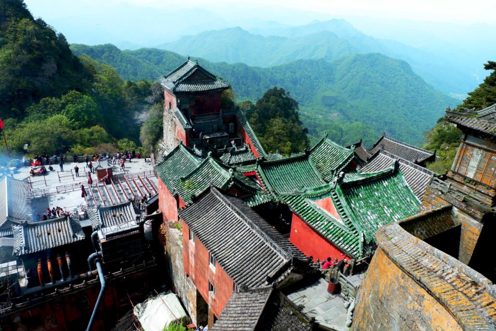 View from the Golden Summit of Wudang Mountains
