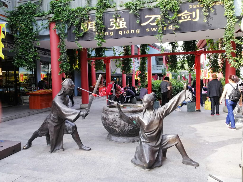 Statues of wuxia heroes in Wudang