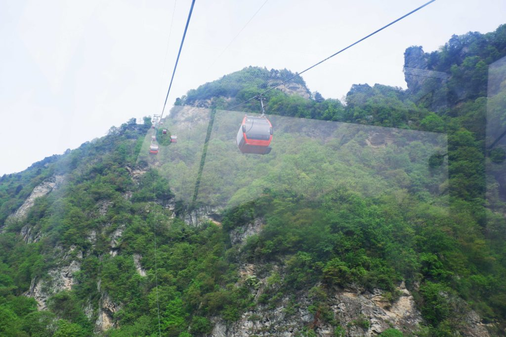 The cable car to the Golden Summit - Wudang Mountains