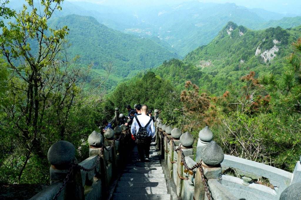 Beautiful views of Wudang Mountains in the spring
