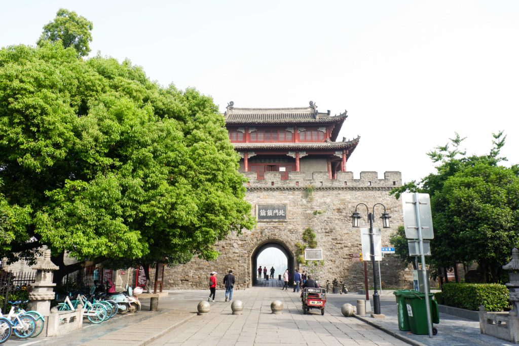 One of the main gates of Xiangyang Ancient City Wall