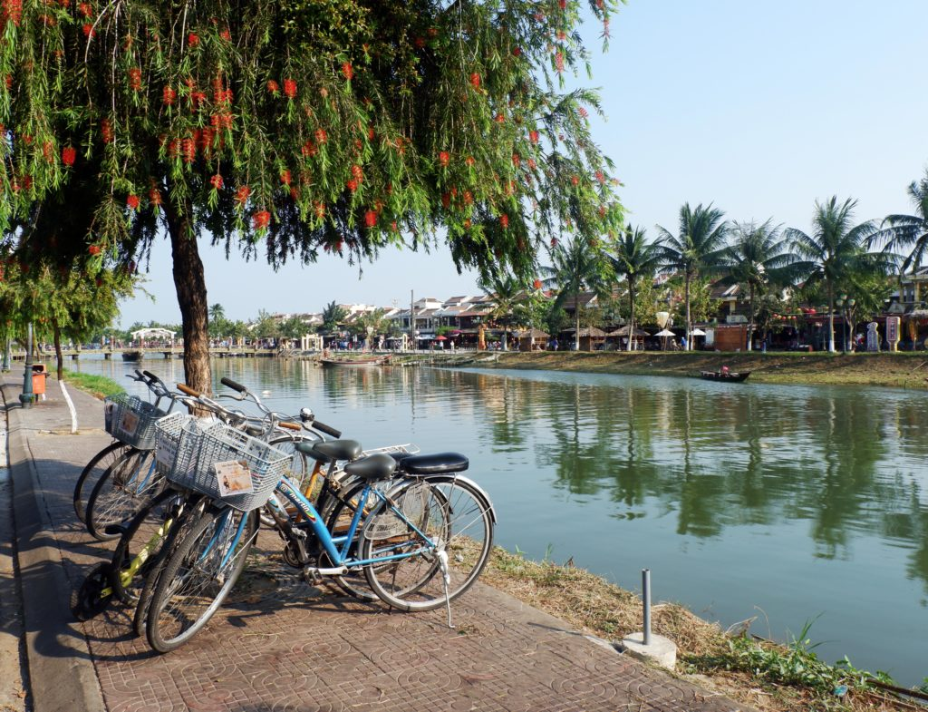 Peaceful morning by the river in Hoi An