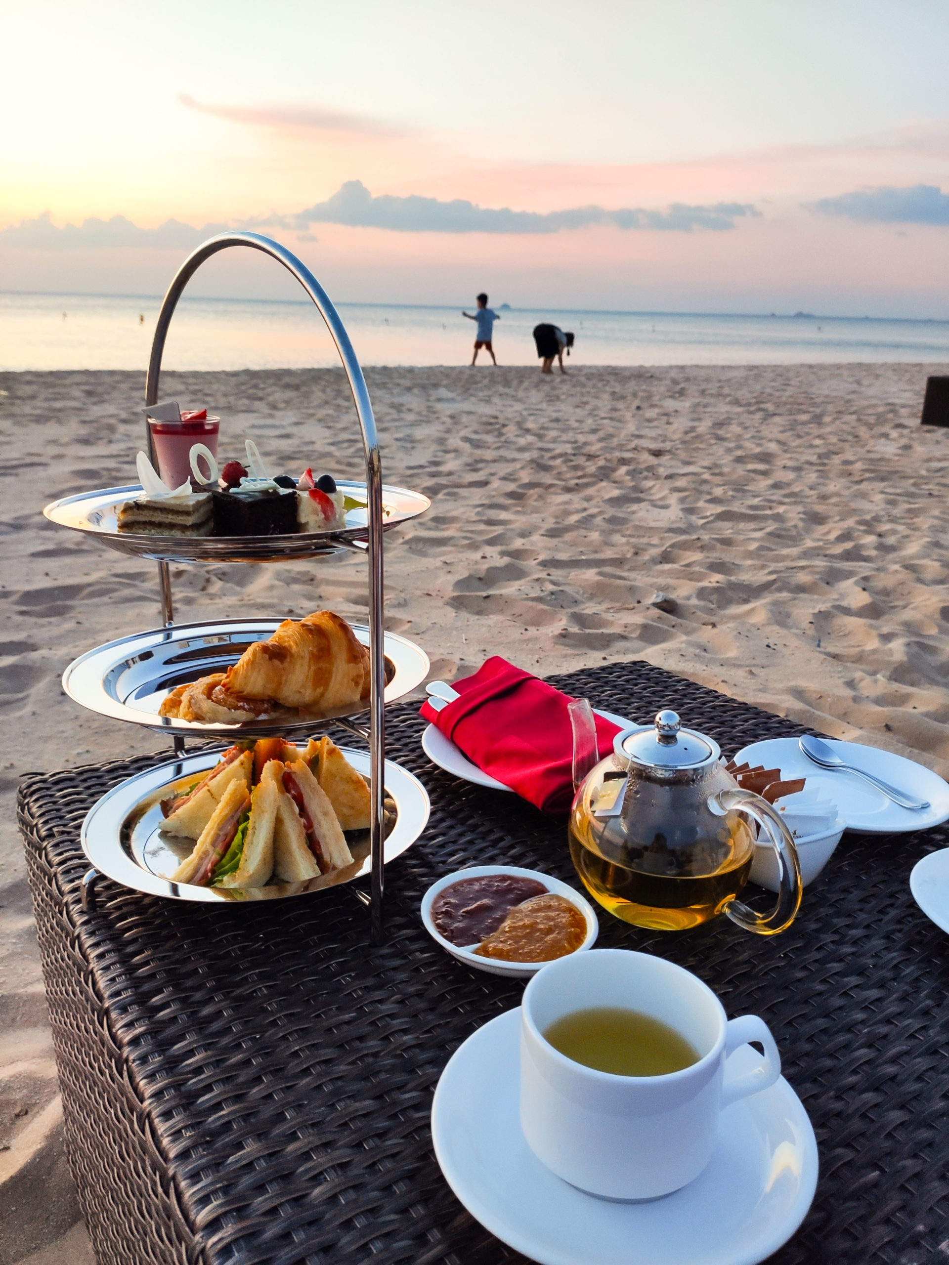 Afternoon tea on the beach at Vinpearl Resort & Golf Phu Quoc