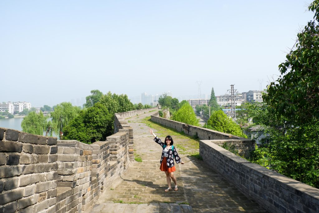 Me walking on the Xiangyang Ancient City Wall